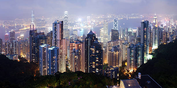 Beautiful Night Scene of Hong Kong Cityscape - XXXLarge