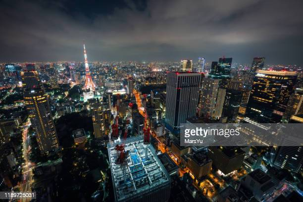 beautiful night scene of tokyo skyline,japan - この撮影のクリップをもっと見る 2025 stock pictures, royalty-free photos & images