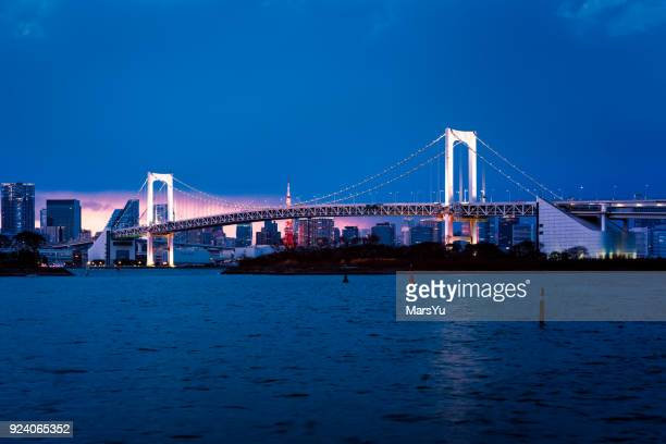 Beautiful night view of Tokyo Bay