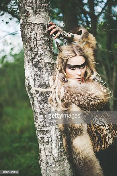 Beautiful northern elf warrior princess