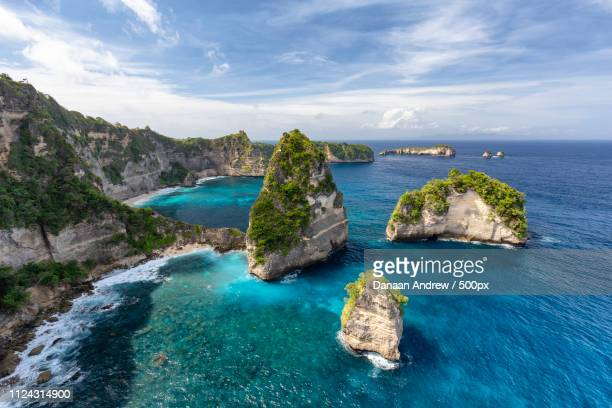 beautiful nusa penida island - regency style stock photos and pictures
