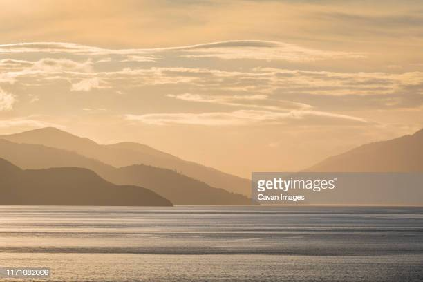beautiful ocean cost in beautiful new zealand - golden hour stock pictures, royalty-free photos & images