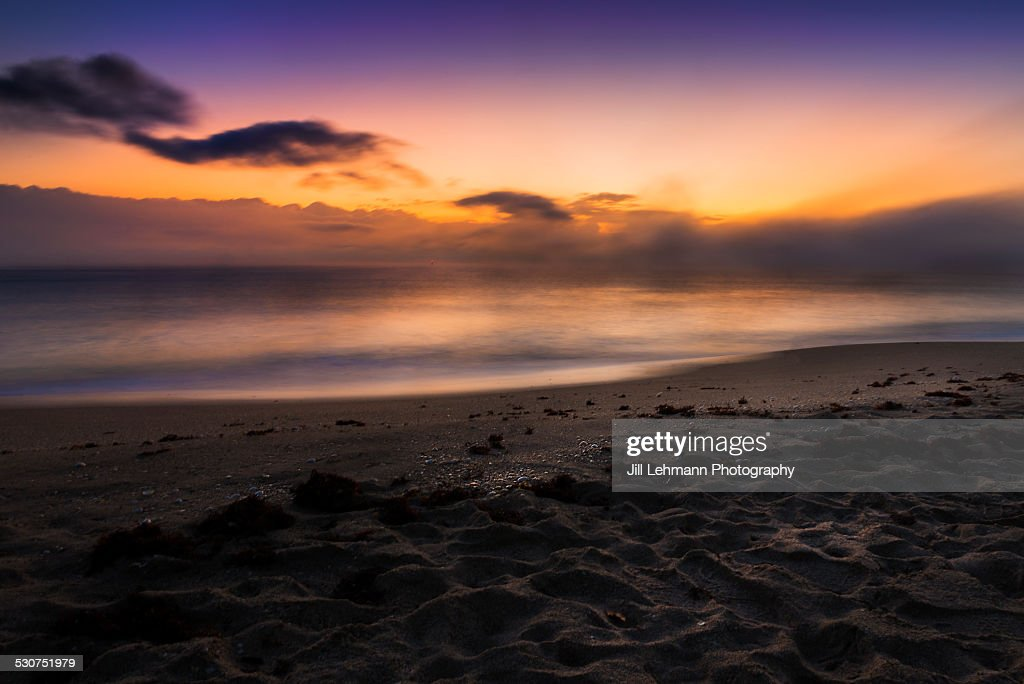 A Beautiful Ocean Shot In West Palm Beach Stock Photo