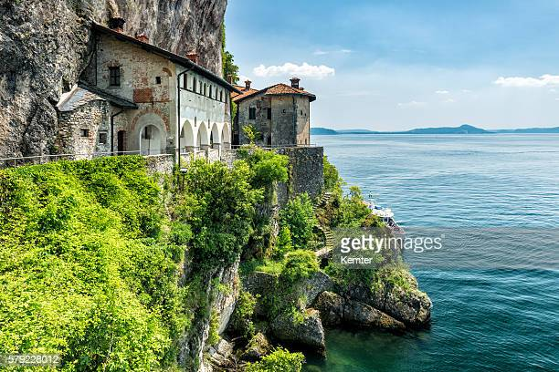 beautiful old convent at lago maggiore - lombardy stock pictures, royalty-free photos & images