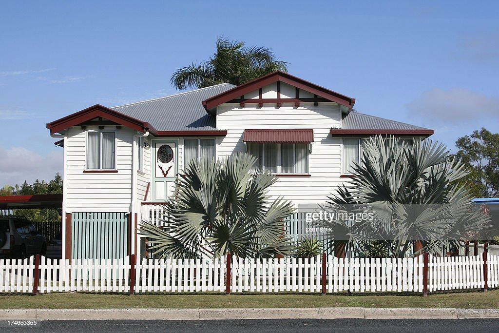 美しい旧 Queenslander ホーム : ストックフォト