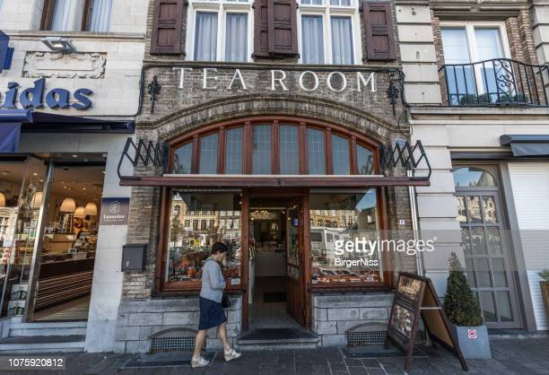 Beautiful old tea room, Ypres, Belgium
