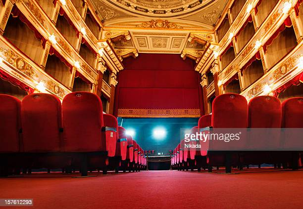 beautiful old  theatre - opera stage stock pictures, royalty-free photos & images
