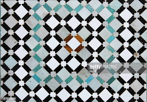 Beautiful old tiles from Meknes medina in Morocco
