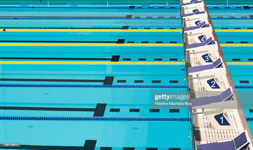 Beautiful Olympic Sport Competition Swimming Pool Lanes In A.