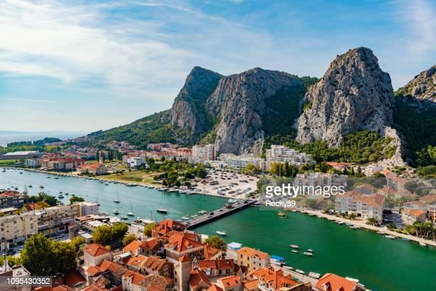 beautiful omis, croatia - dalmatia region croatia stock pictures, royalty-free photos & images