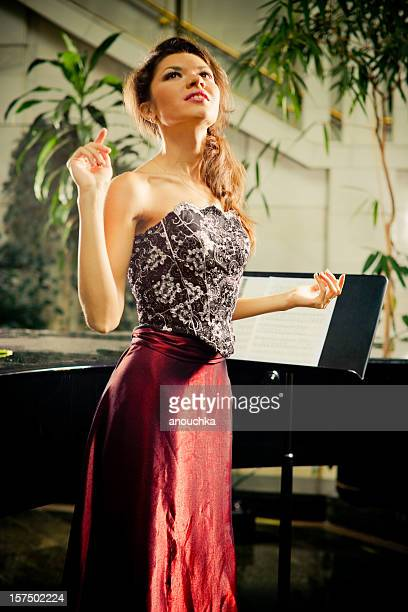Beautiful Opera Singer Portrait