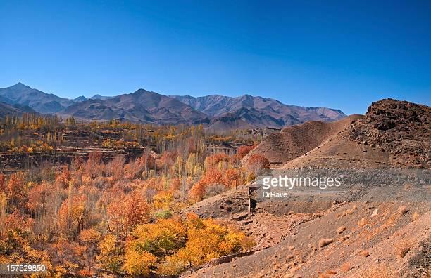 Beautiful Panorama of Abyaneh Mountains, Iran