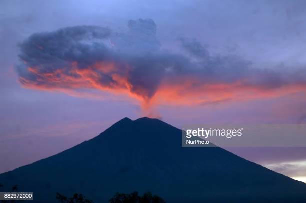 Beautiful panorama of Mount Agung viewed from Tulamben Karangasem Bali November2017 Center for Volcanology and Geological Hazard Mitigation Indonesia...