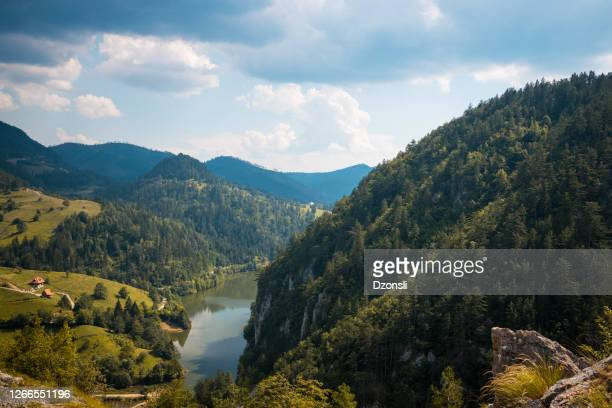 beautiful panoramic mountain view - serbia stock pictures, royalty-free photos & images