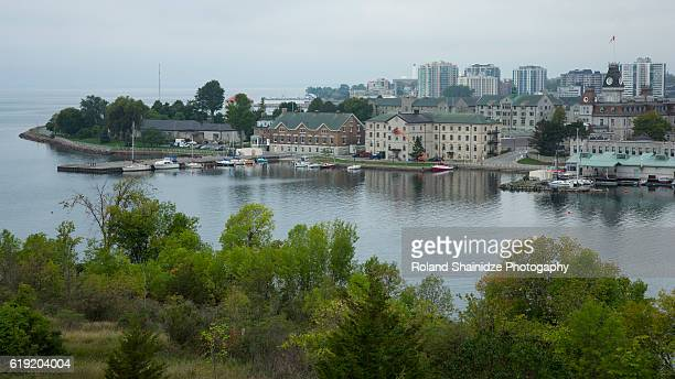 beautiful panoramic view of kingston, ontario, canada. - kingston ontario stock photos and pictures