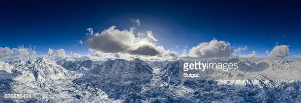 Beautiful Panoramic View Of Snowy Mountains