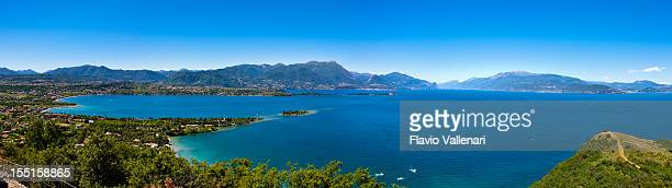 Schöne Panoramablick auf Lake Garda