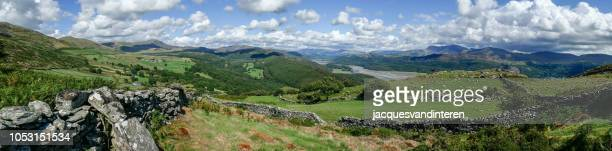 Beautiful panoramic view over Afon Mawddach and Cadair Idris (Snowdonia, Wales, United Kingdom)