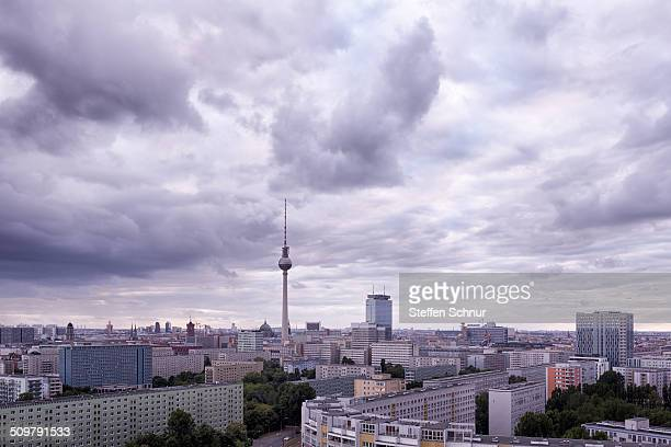 Beautiful panoramic view over Berlin with clouds