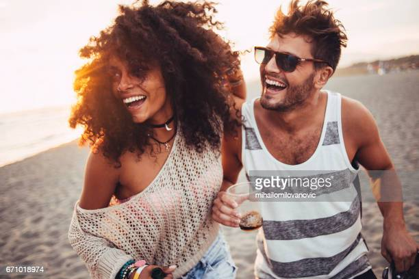 Beautiful people having fun