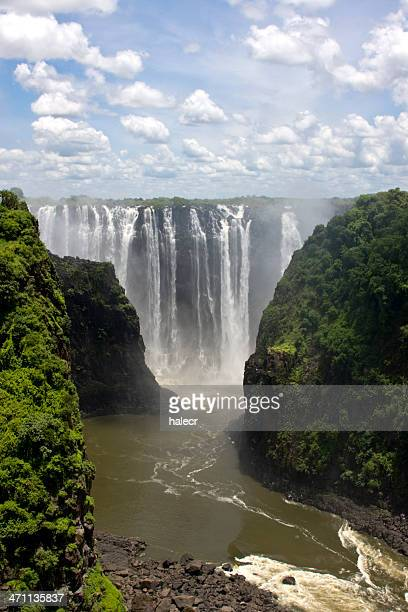 beautiful photograph of victoria falls - victoria falls stock pictures, royalty-free photos & images