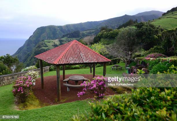 Beautiful picnic area at the Azores