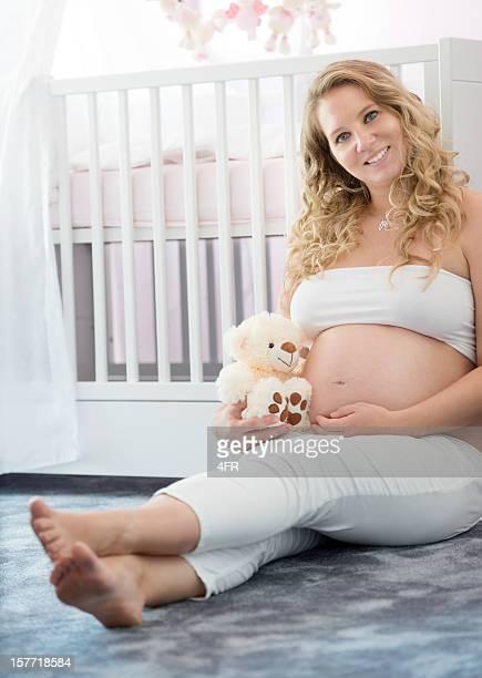 Erwartet schöne schwangere Frau Ihr Baby (XXXL)