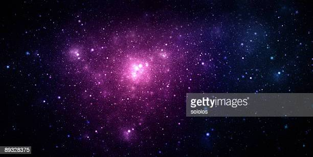 A beautiful purple nebula in space