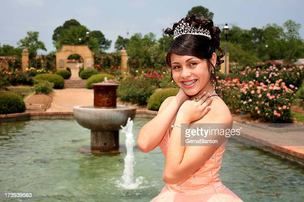 beautiful quinceanera - quinceanera stock pictures, royalty-free photos & images