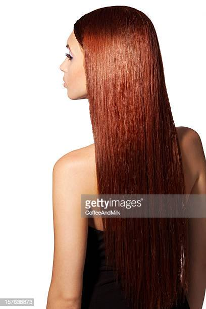 beautiful  red hair - straight hair stock pictures, royalty-free photos & images