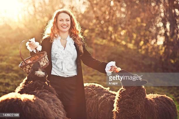 美しい赤毛国のライフスタイルと sheeps