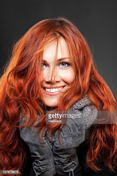 Schönes Rotes Haar Mädchen