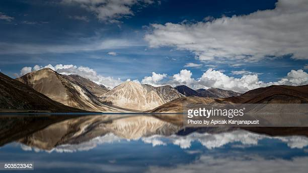 Beautiful reflection of Pangong Lake, Leh Ladakh, India