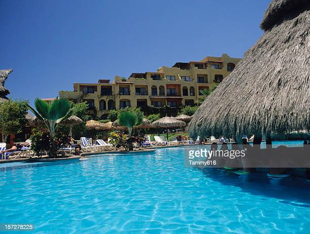 beautiful resort pool - tammy bar stock pictures, royalty-free photos & images