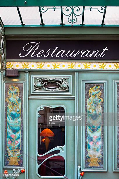 Beautiful Restaurant in Art Nouveau Style, Paris, Saint Germain, France