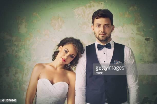 Beautiful retro styled couple