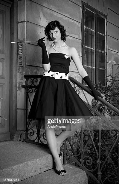Beautiful retro styled woman