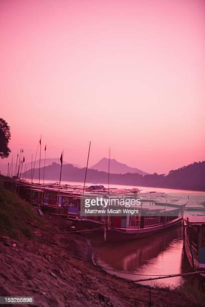 A beautiful riverside sunset.