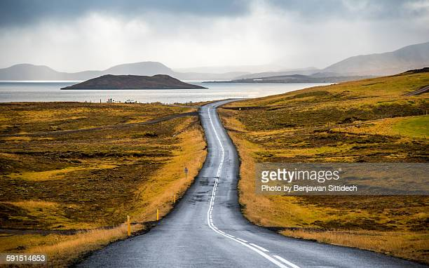 Beautiful road in Iceland