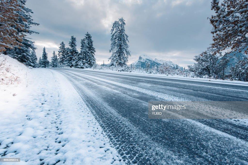Beautiful road in Rocky Mountain : Stock Photo