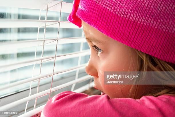 Beautiful Sad little girl
