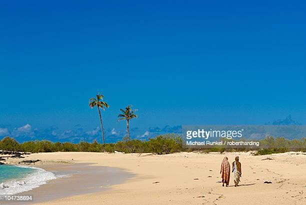 beautiful sandy beach at ngazidja, grand comore, comoros, indian ocean, africa - comores photos et images de collection