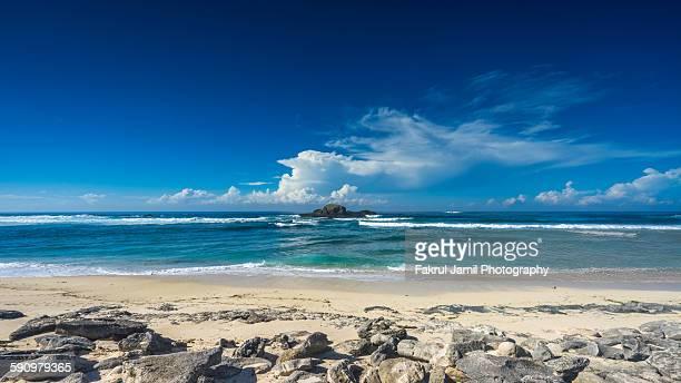 Beautiful sandy beach in Lombok, Indonesia