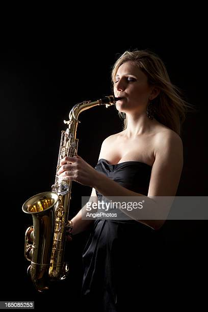 Beautiful saxophonist