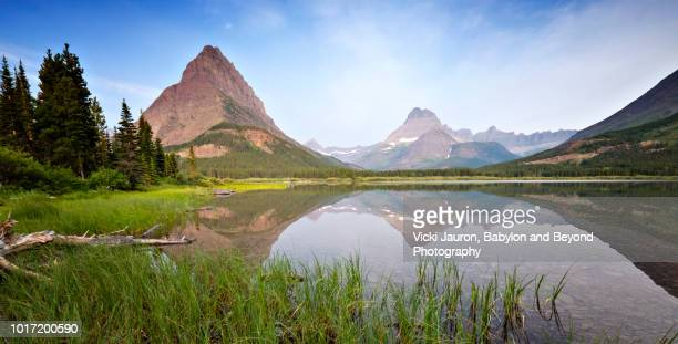Beautiful Scene at Sunrise at Swiftcurrent Lake in Glacier National Park, Montana