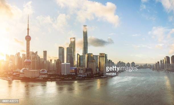 Beautiful scene of the bund,shanghai,china