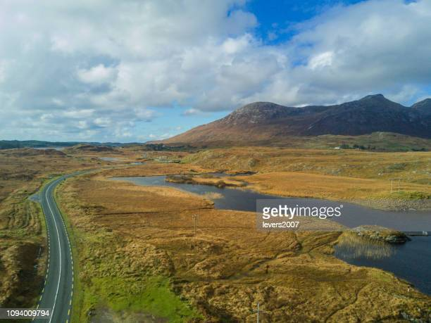 beautiful scenery along the wild atlantic way, connemara, co. galway, ireland. - county galway stock pictures, royalty-free photos & images