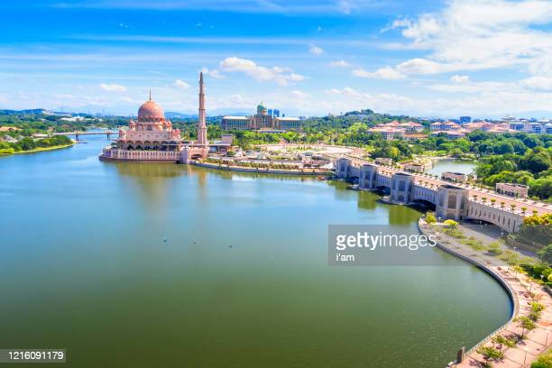 beautiful scenery of putrajaya, putra mosque and perdana putra, malaysia. - putrajaya stock pictures, royalty-free photos & images