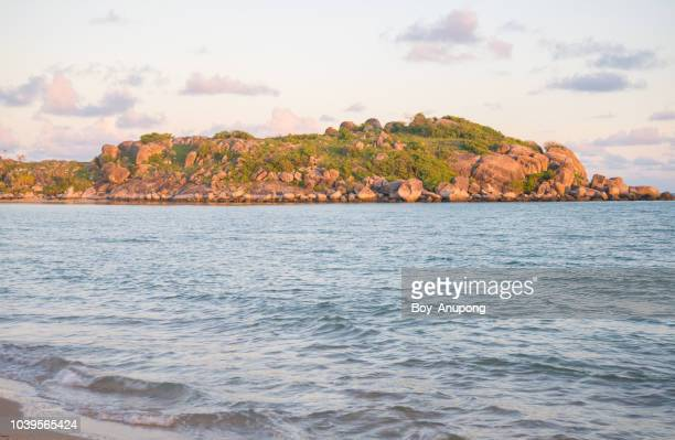 beautiful scenery view of east woody island at dawn. - east stock photos and pictures