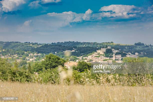 Beautiful Scenic View Landscape Near Village Of Trigance In Provence, France